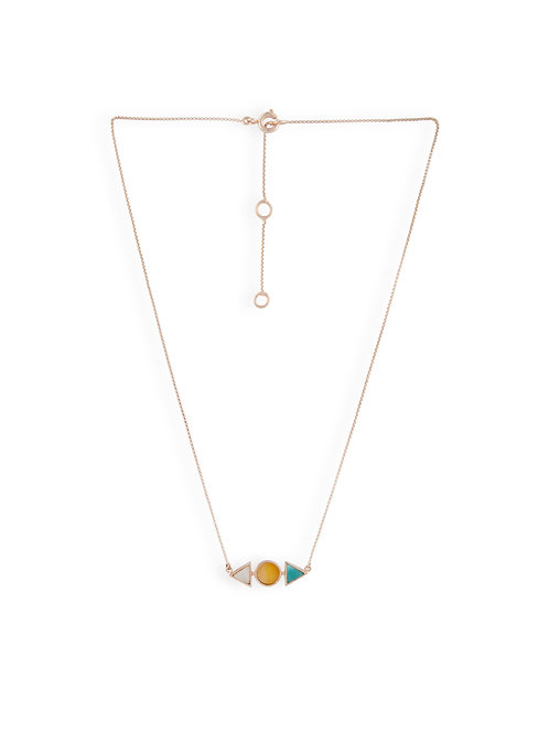 Double Triangle and Circle Pendant