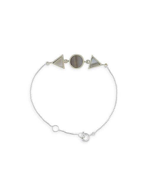 Two Triangle and Circle Bracelet