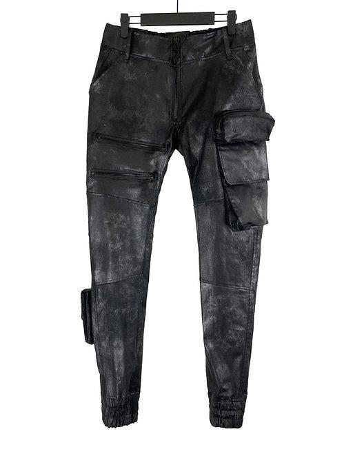 SPLATTER WAX SLIM CONGO TROUSER (SHADOW BLACK)
