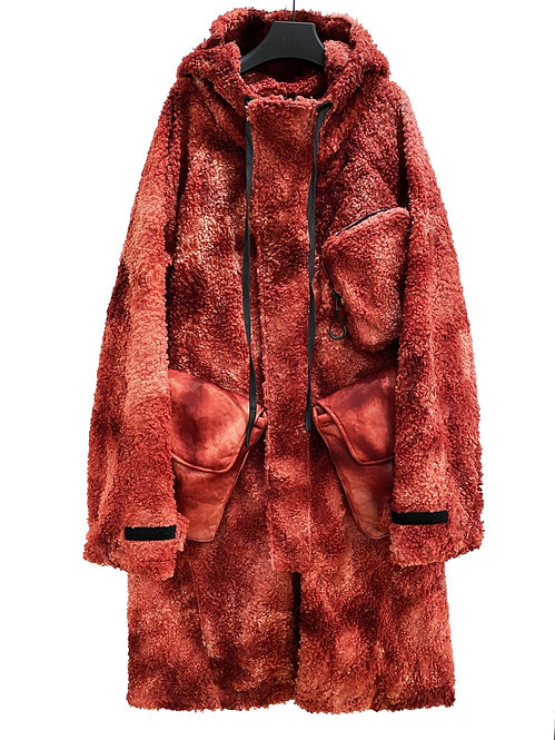 X-INSULATE LONG CHOP PARKA (RED VARIANCE WASH)