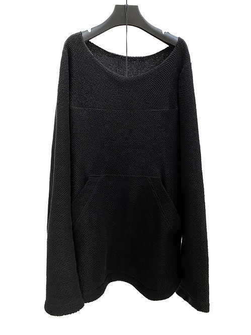 RAW SCOOP KNIT PULLOVER