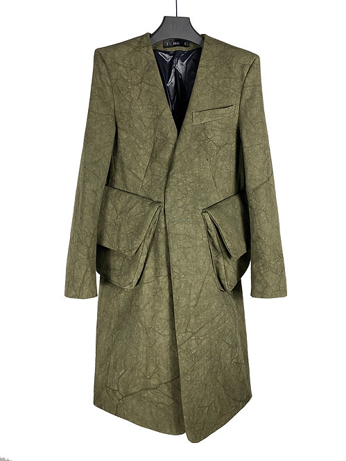 MINS CARGO TRENCH (CRACKED OLIVE)