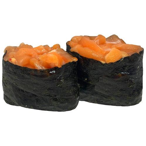 Гунканы с копченым лососем