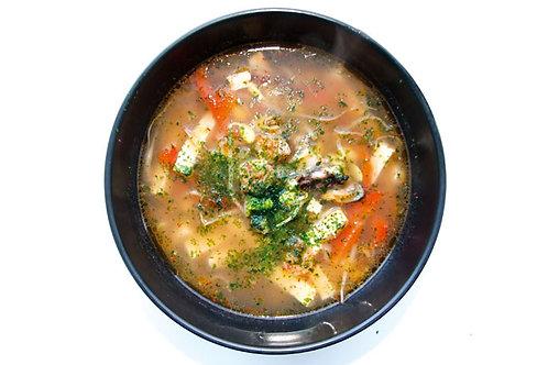 Острый суп ким-чи с морепродуками