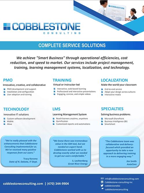 Cobblestone Capabilities & Services