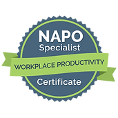 NAPO Specialist in Workplace Productivity Badge certificate