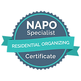 NAPO specialist in Residential Organizing Certificate