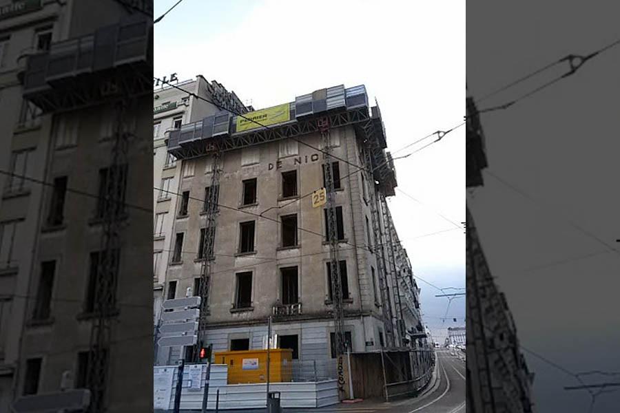 Démolition d'un bâtiment Place Carnot à Lyon (69)
