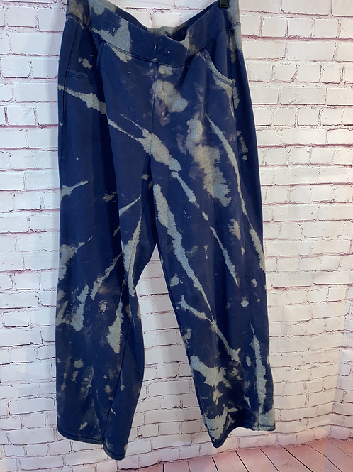 Bleached Navy Sweatpants