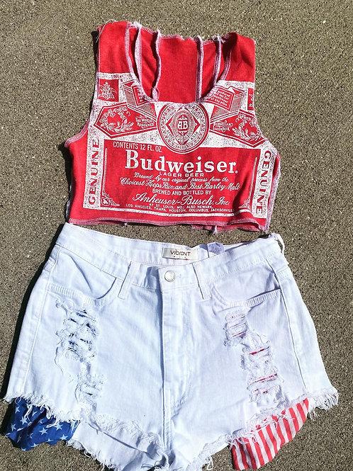 Budweiser Crop Top