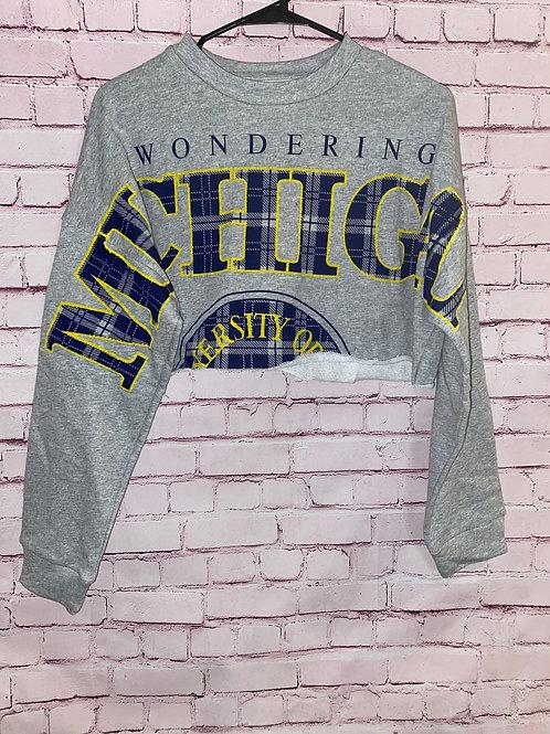 Michigan University Crop top Sweatshirt