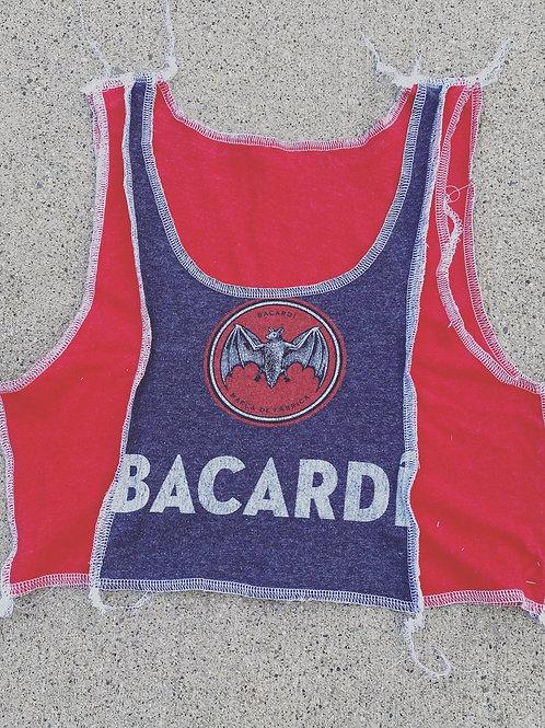 Bacardi Reworked Overlock Crop Tank Top