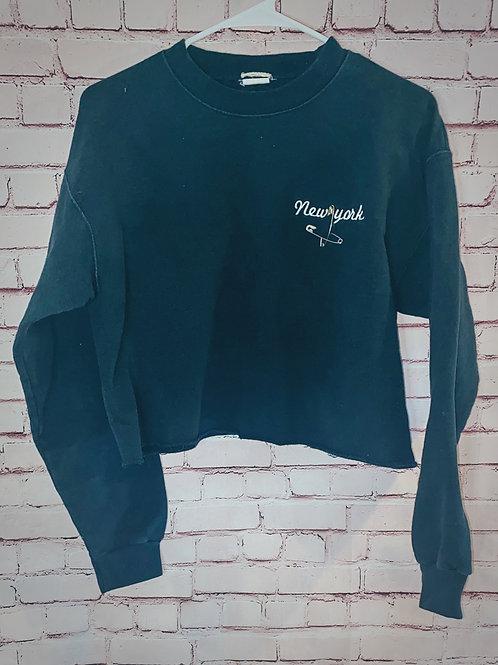 New York Cropped Sweatshirt