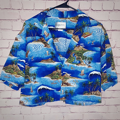Island Hawaiin Cropped Shirt