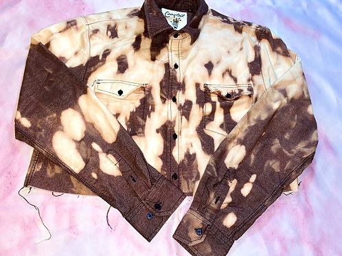 Cropped Bleached Button Up
