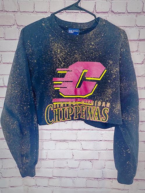 Bleached CMU Cropped Sweatshirt