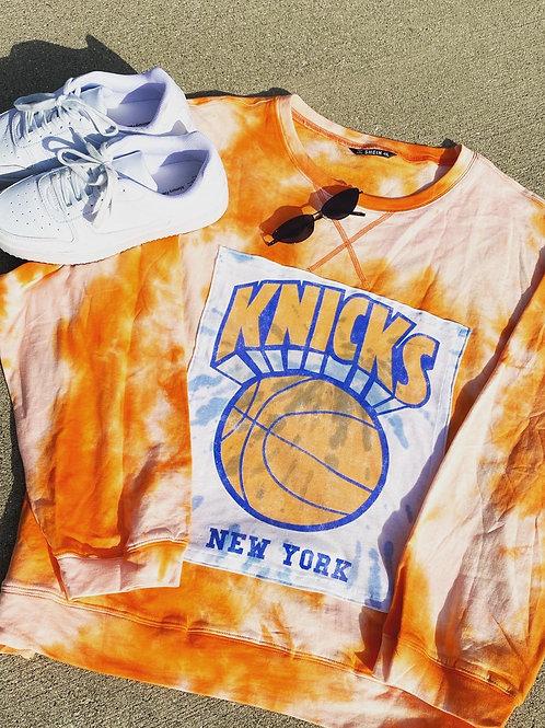 New York Knicks Oversized Reworked Crewneck