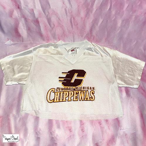 White Cropped CMU Jersey