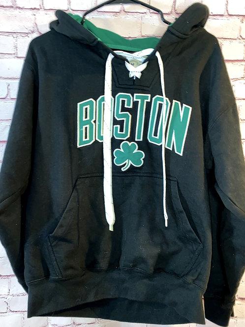Boston Hockey Tie Hoodie
