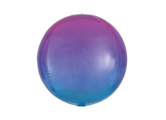 בלון כדור בצבע סגול כחול מתחלף