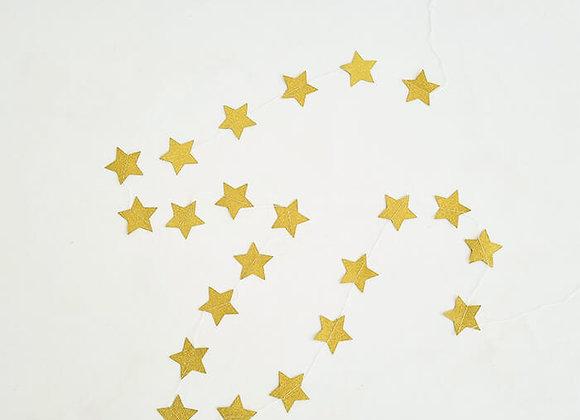 גרילנדת כוכבים זהב מנצנץ
