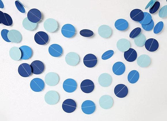 גרילנדת עיגולים כחולים