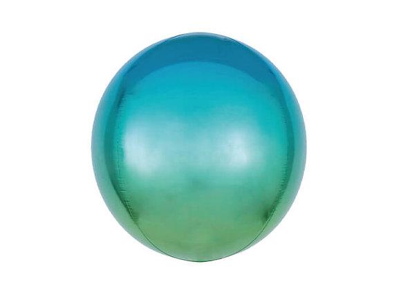 בלון כדור בצבע כחול ירוק מתחלף
