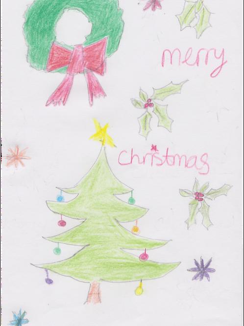 Tristan's Christmas Card - Set of 10