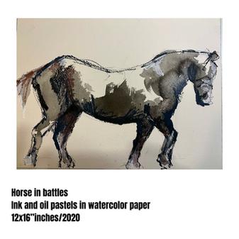 Horse in battle #03