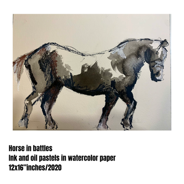Horse in battle #03