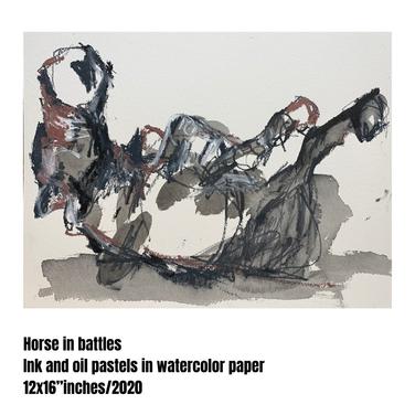 Horse in battle #01