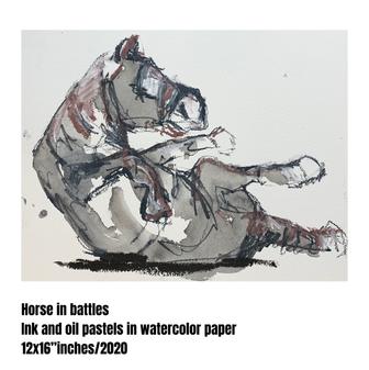 Horse in battle #02