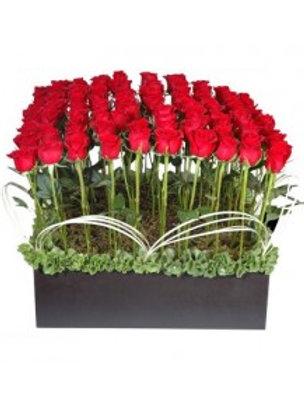 Caja de 80 rosas