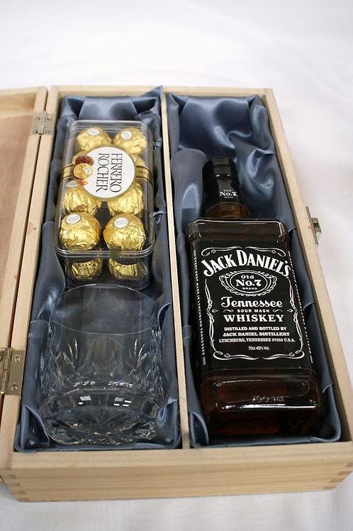 Caja Whisky con chocolates