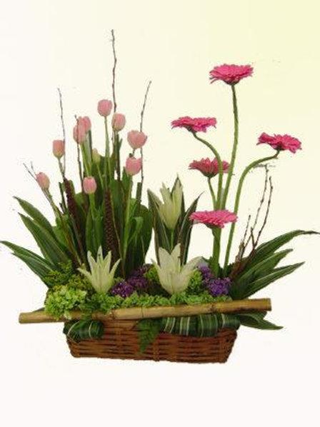 Tulipanes con gerberas
