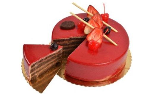 Pastel de fresa con chocolate