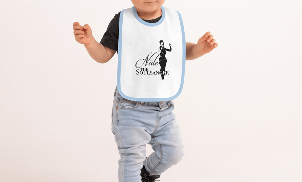 The Soulsanger Embroidered Baby Bib