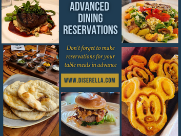 Diserella's Tips for a Successful Disney Vacation - Advanced Dining Reservations