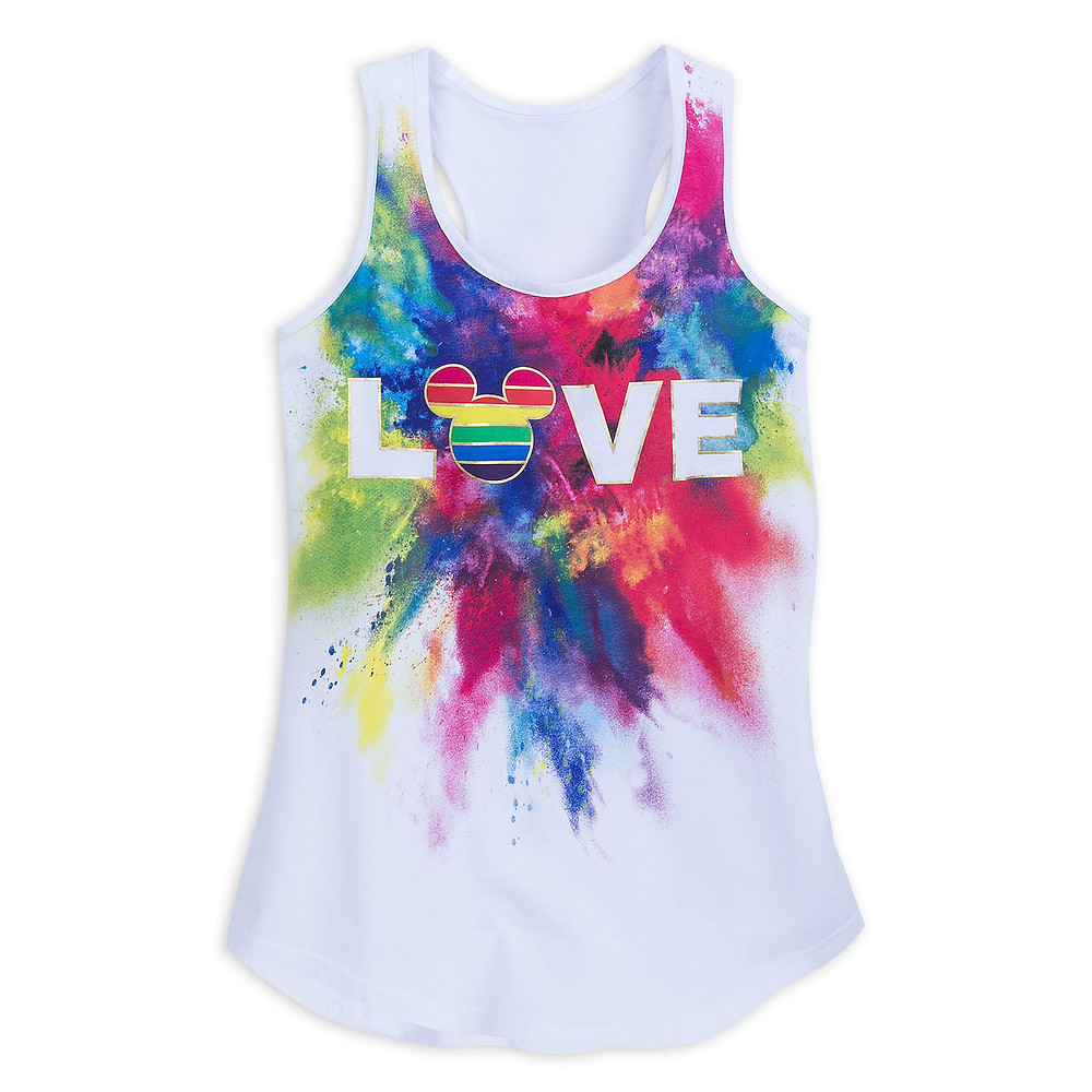 Rainbow Mickey Fitted Tank Top for Adults shopDisney
