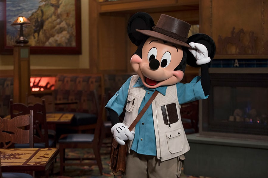 Mickey Mouse character dining Disneyland