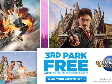 3rd Park Free at Universal Orlando