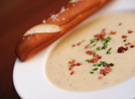 Le Cellier's Cheddar Cheese Soup Recipe