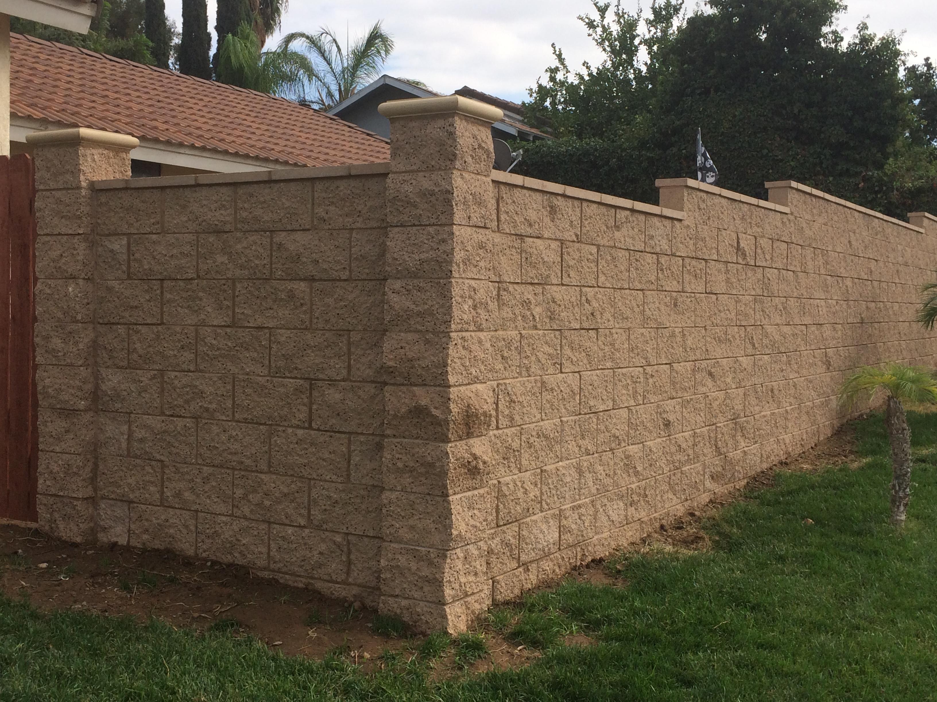 Split Face Block Wall