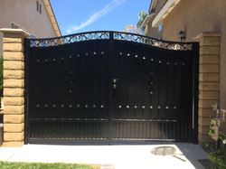 Double Wrought Iron Gate