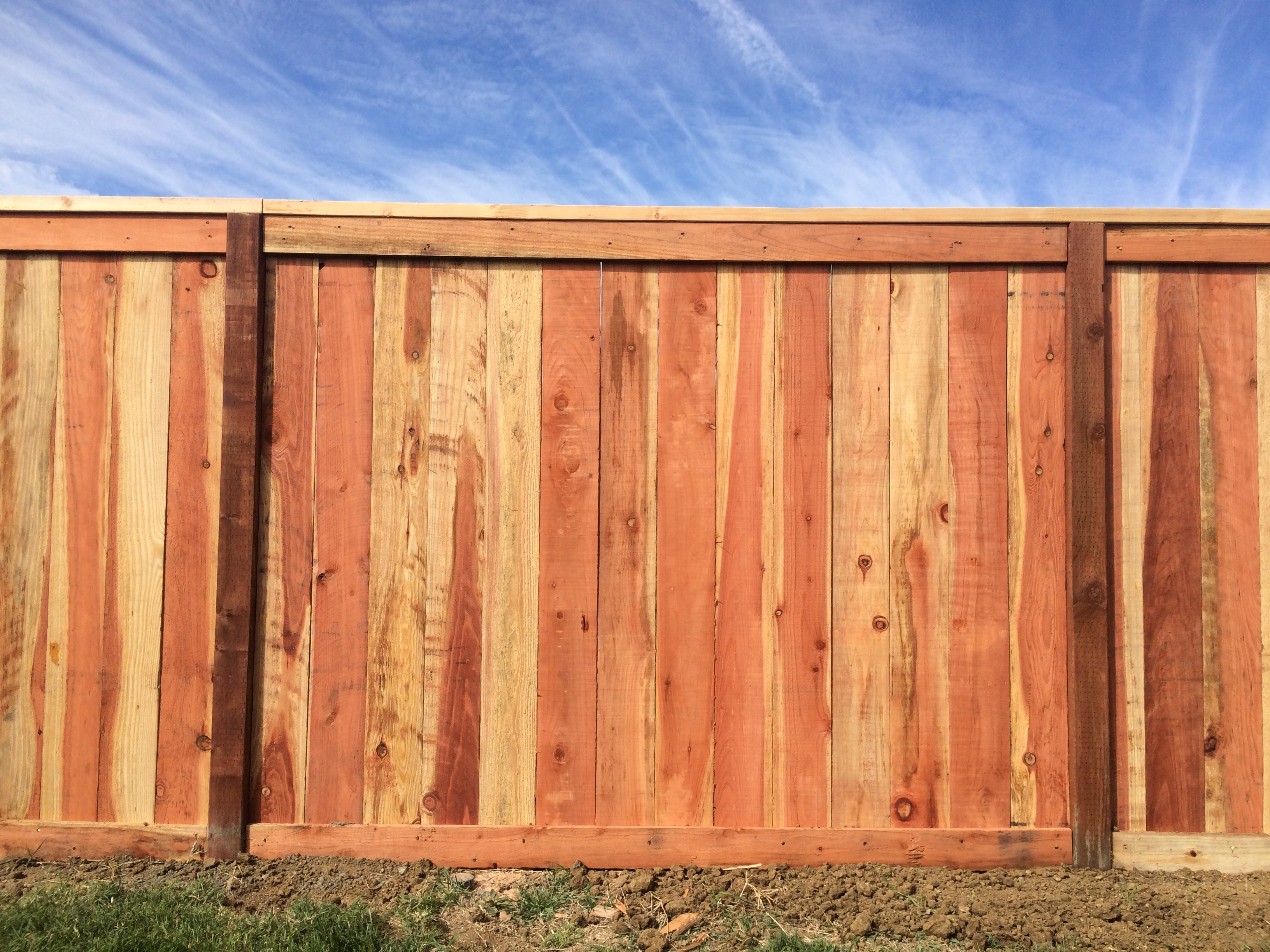 Redwood Fence Picture Frame with Cap2