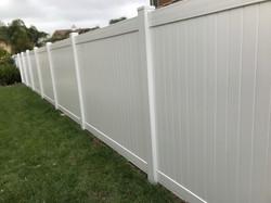 Vinyl Fence - white color