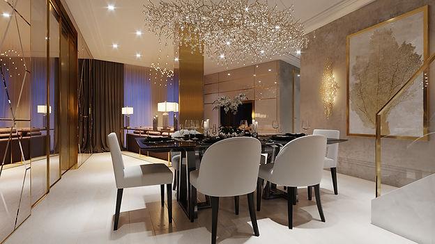 luxury interior designer dining room