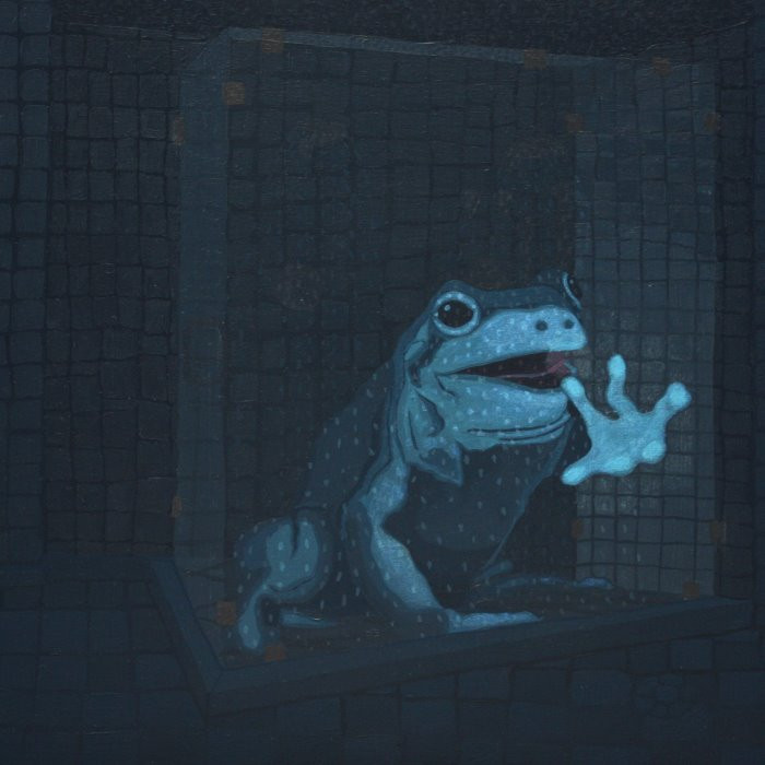 """Blue Frog In The Shower"" by Lisa Ng"
