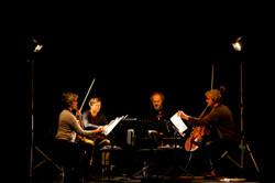 Klangforum String Quartet Rehearsals