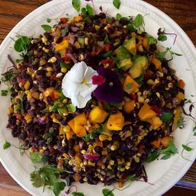 Our organic black bean corn salad dresse